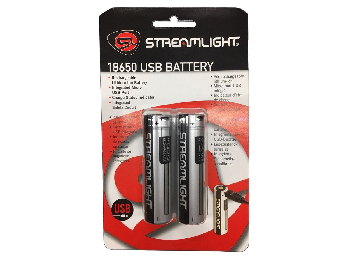 Streamlight 18650 USB Chargeur Kit support de charge avec 2 piles au lithium ionique