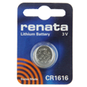 Renata CR1616-CU 50mAh 3V Lithium Primary (LiMNO2) Coin Cell Battery - 1 Piece Small Retail Card