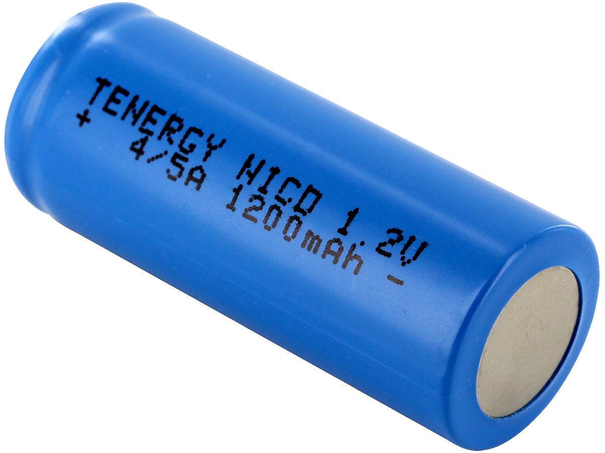 Bottom Shot of the Tenergy 4/5A Rechargeable NiCd Flat Top Battery