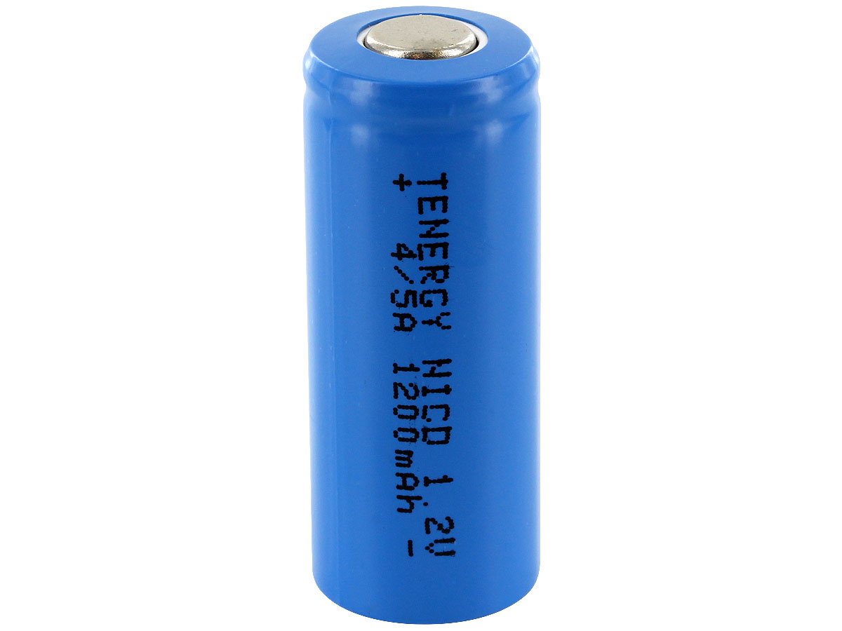 Standing Shot of the Tenergy 4/5A Rechargeable NiCd Flat Top Battery