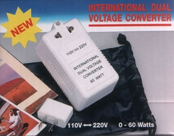 Dual Voltage Converter TF-60W (SS213) for Switching between AC 110V and 240V