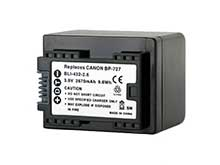 Empire BLI-432-2-6 2670mAh 3.6V Replacement Lithium Ion (Li-Ion) Battery for the Canon BP-727 Camera