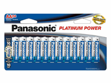 Panasonic Platinum Power LR6XE-24B AA 1.5V Alkaline Button Top Batteries - 24-Pack Retail Card