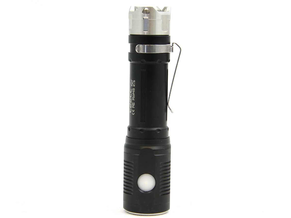 Charging Shot of the Sunwayman C22CC Rechargeable LED Flashlight