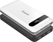 Energizer 5V 2.4A 10000mAh Power Bank Charger with LCD Screen (UE10036) - Black and White Options