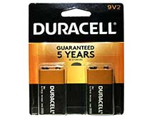Duracell Coppertop Duralock MN1604-B2 9V 6LR61 Alkaline Battery with Snap Connectors - 2 Piece Retail Card