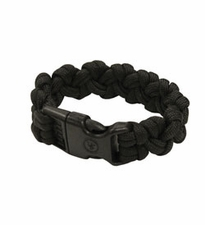 Ultimate Survival Technologies Survival Bracelet - 7-inch Wrist Band with Nylon Buckle - 8 Feet of Paracord - Black (20-295B7-20)