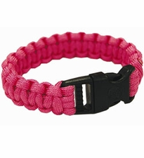 Ultimate Survival Technologies Survival Bracelet - 8-inch Wrist Band with Nylon Buckle - 8 Feet of Paracord - Fuchsia (20-295BB-37)