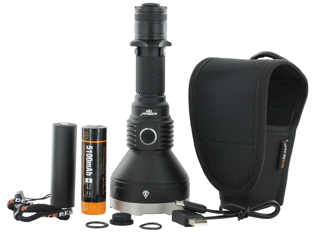 Acebeam T27 LED Flashlight package contents