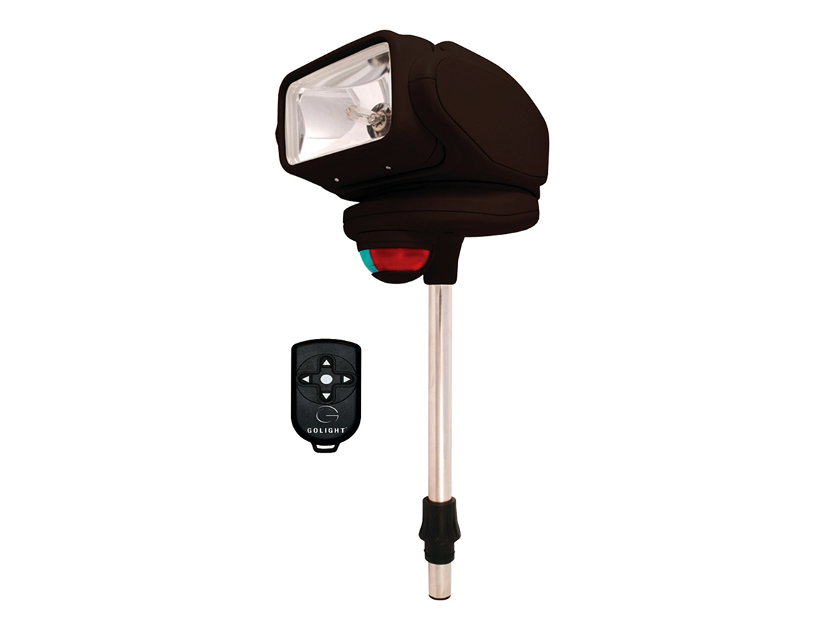 gobee halogen stanchion mounted search and navigation light with remote