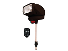 GoLight Gobee Halogen Search and Navigational Light - Stanchion Mount with Wireless Remote - Black