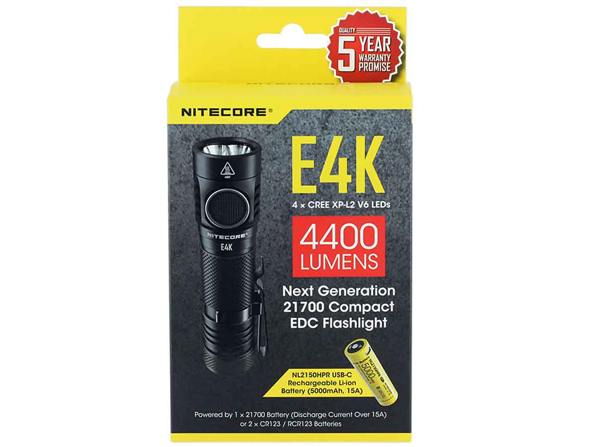 Nitecore E4K packaging front