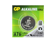 Gold Peak A76 1.5V Alkaline Coin Cell Battery - 1 Piece Tear Strip, Sold Individually