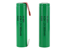 Powerizer MH 4/3 A 3800mAh 1.2V Nickel Metal Hydride (NiMH) Flat Top Battery with or without Tabs - Bulk