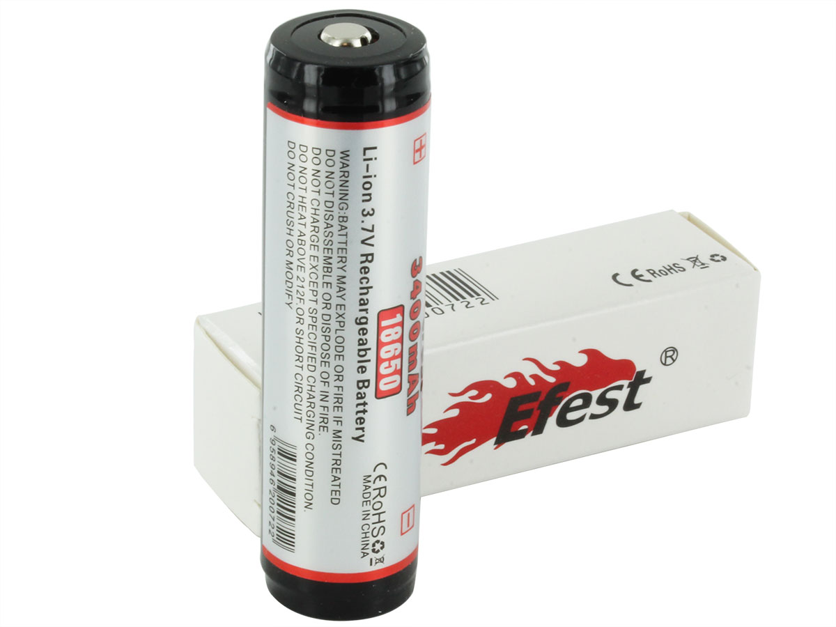 Efest 3259 18650 button top battery with box