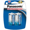 Panasonic Platinum Power LR14XP-4B C-cell 1.5V Alkaline Button Top Batteries - 4-Pack Retail Card
