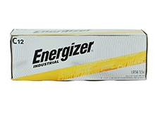Energizer Industrial EN93 (12PK) C-cell 1.5V Alkaline Button Top Batteries - Box of 12