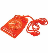 Ultimate Survival Technologies Compass Combo - Includes Liquid-Filled Compass, Fahrenheit Thermometer and Signal Whistle - Orange (20-310-35-2A)