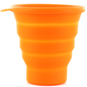 Ultimate Survival Technologies FlexWare Cup - Heat-Resistant Silicone - 3.2 x 3-inch Collapsible Mug - Orange (20-02079-08)