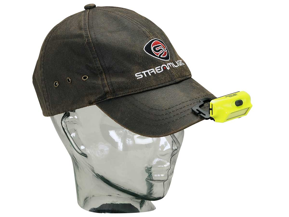 The hands-free option on the brim of a hat