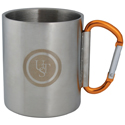 Ultimate Survival Technologies KLIPP Biner Mug 1.0 - Stainless Steel - 3.5 x 4.75-inch Camping Cup with 8cm Carabiner Handle