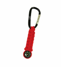 Ultimate Survival Technologies Survival Key Chain with Compass - 4.5 Feet of Paracord - Red (20-295-478-04)