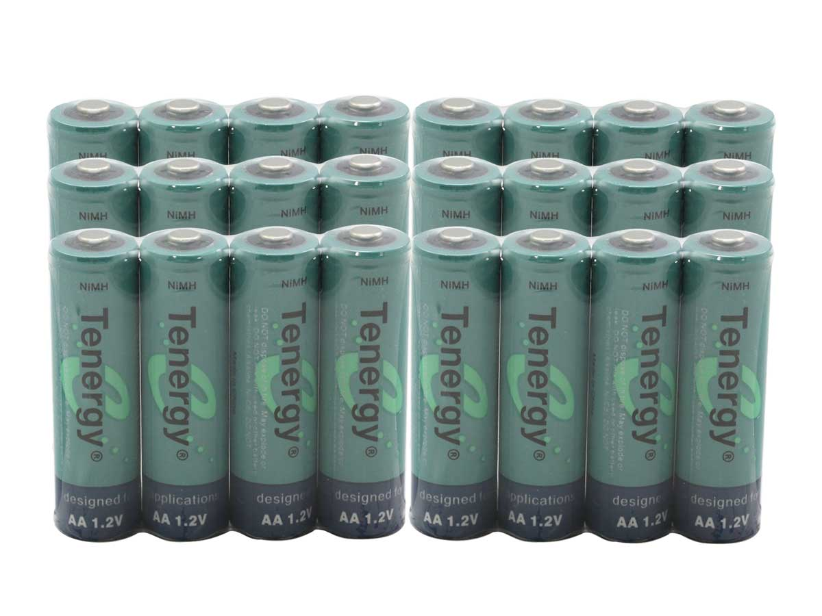 Tenergy 10308 AA batteries (24) wrapped in cellophane