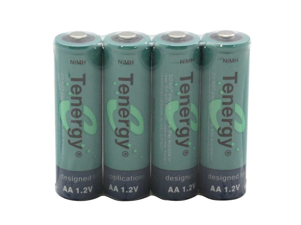 4 Tenergy 10308 AA batteries wrapped in cellophane