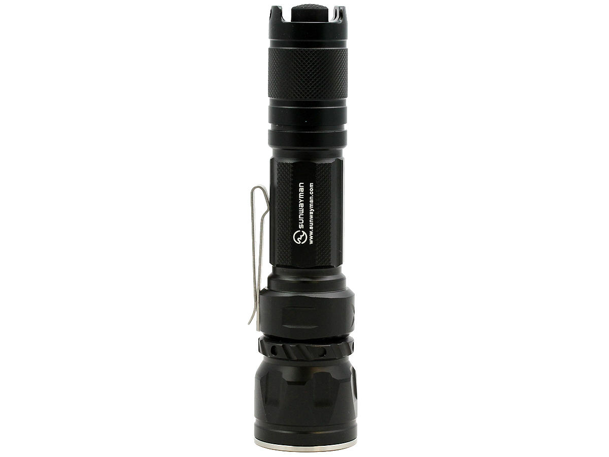 Standing Shot of the Sunwayman G20C Dual Button Compact Flashlight