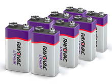 Rayovac Specialty 9V 1200mAh 9V Lithium (LiMNO2) Batteries - Box of 8 (R9VL-8G)