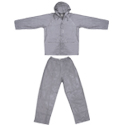 Ultimate Survival Technologies All-Weather Rain Suit - Waterproof Jacket and Pants - Adult Small, Medium, Large or Extra Large - Gray