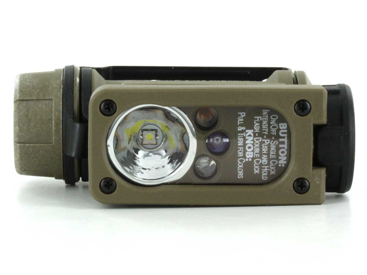 Side angle of the Hands-free tactical light
