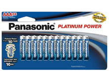 Panasonic Platinum Power LR03XE-24B AAA 1.5V Alkaline Button Top Batteries - 24-Pack Retail Card