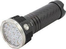 MecArmy PT80 Ultra Bright Rechargeable Flashlight - 16x CREE XP-G2 LEDs - 9600 Lumens - Includes 8 x 18650 Battery Pack