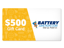 $500 Gift Certificate for BatteryJunction.com