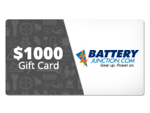 $1,000 Gift Certificate for BatteryJunction.com