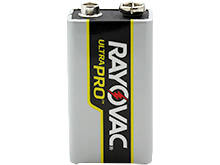 Rayovac Ultra Pro AL-9V Alkaline Battery with Snap Connectors - Bulk