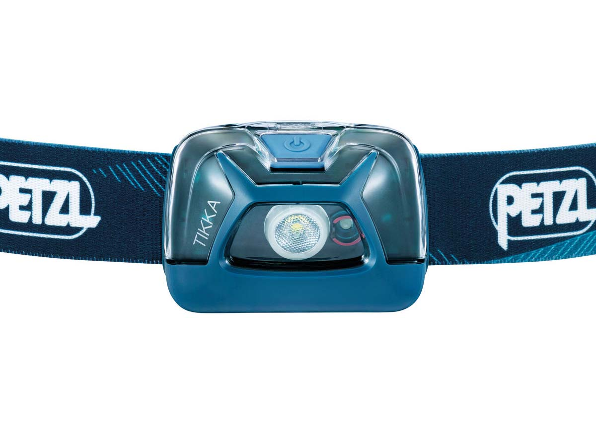 Petzl Tikka Headlamp Flashlight Blue