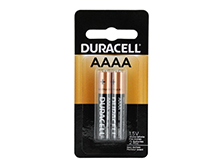 Duracell MX2500-B2 AAAA 1.5V Alkaline Batteries (MX2500B2) - 2 Piece Retail Card