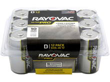 Rayovac Ultra Pro AL-D-12 Alkaline Button Top Batteries - 12 Pack (ALD-12PPJ)