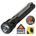 Streamlight PolyStinger HAZ-LO Intrinsically Safe Rechargeable Flashlight with 120V AC/DC Charger - Class I Div 1 - C4 LED - 130 Lumens - Includes NiCd Sub-C Battery Pack - Black (76442) or Yellow (76412)