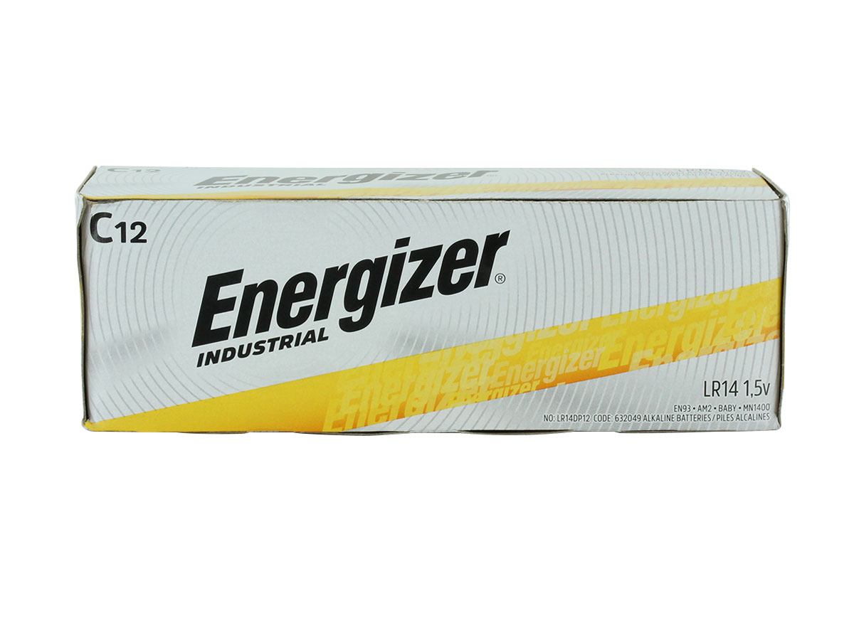 Energizer Industrial EN93 C cell 12 pack box