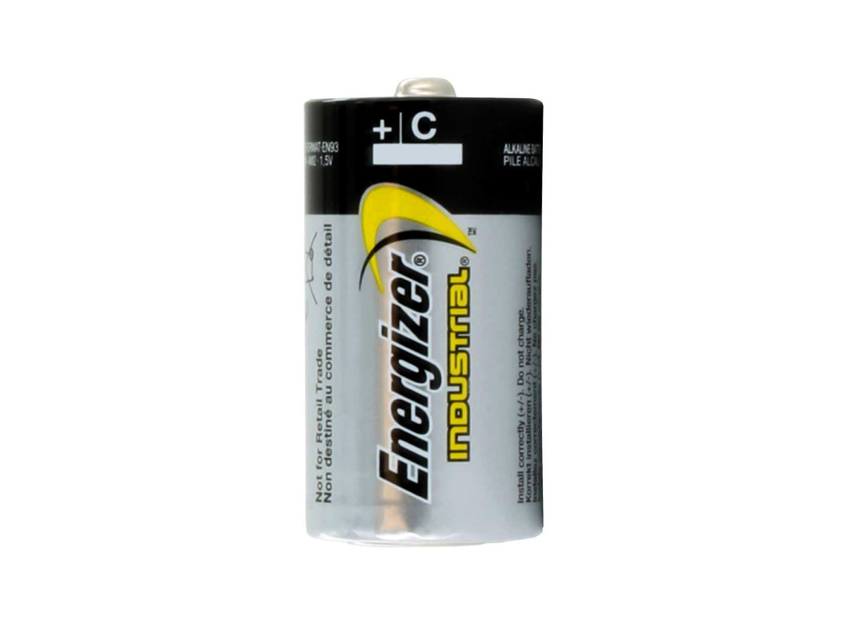 energizer industrial en93 c cell sitting vertically without packaging