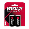 Energizer Eveready Super Heavy Duty 1235-SW-2 C-cell 3800mAh 1.5V Zinc Carbon Button Top Batteries - 2 Piece Retail Card