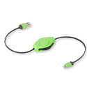 ReTrak Retractable iPhone 5/6 iPad Lightning Charge and Sync Cable - Green