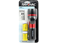 Rayovac Value Bright Krypton Flashlight - Incandescent Bulb - 23 Lumens - Includes 2 x D Cells (2D-B-RBC)