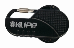Ultimate Survival Technologies KLIPP Butane Lighter / Fire Starter with Carabiner Clip - Black