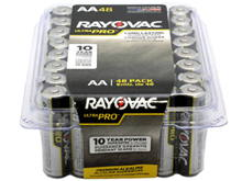 Rayovac Ultra Pro AL-AA-48 1.5V Alkaline Button Top Batteries - 48 Pack (ALAA-48PPJ)