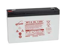 Enersys NP7-6 7Ah 6V Rechargeable Sealed Lead Acid (SLA) Battery - F1 Terminal