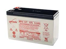 Enersys NP9-12T 9Ah 12V Rechargeable Sealed Lead Acid (SLA) Battery - F2 Terminal
